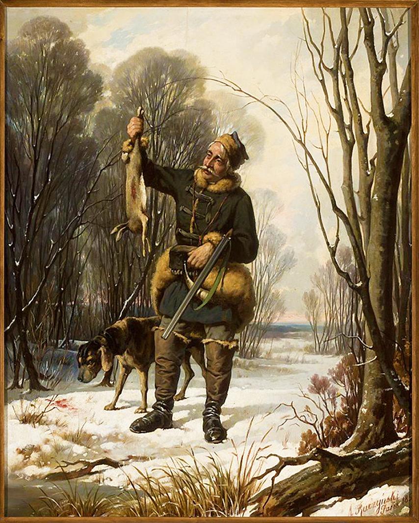 Александер Рачинський. Мисливець, 1857; дерево, олія; NMW