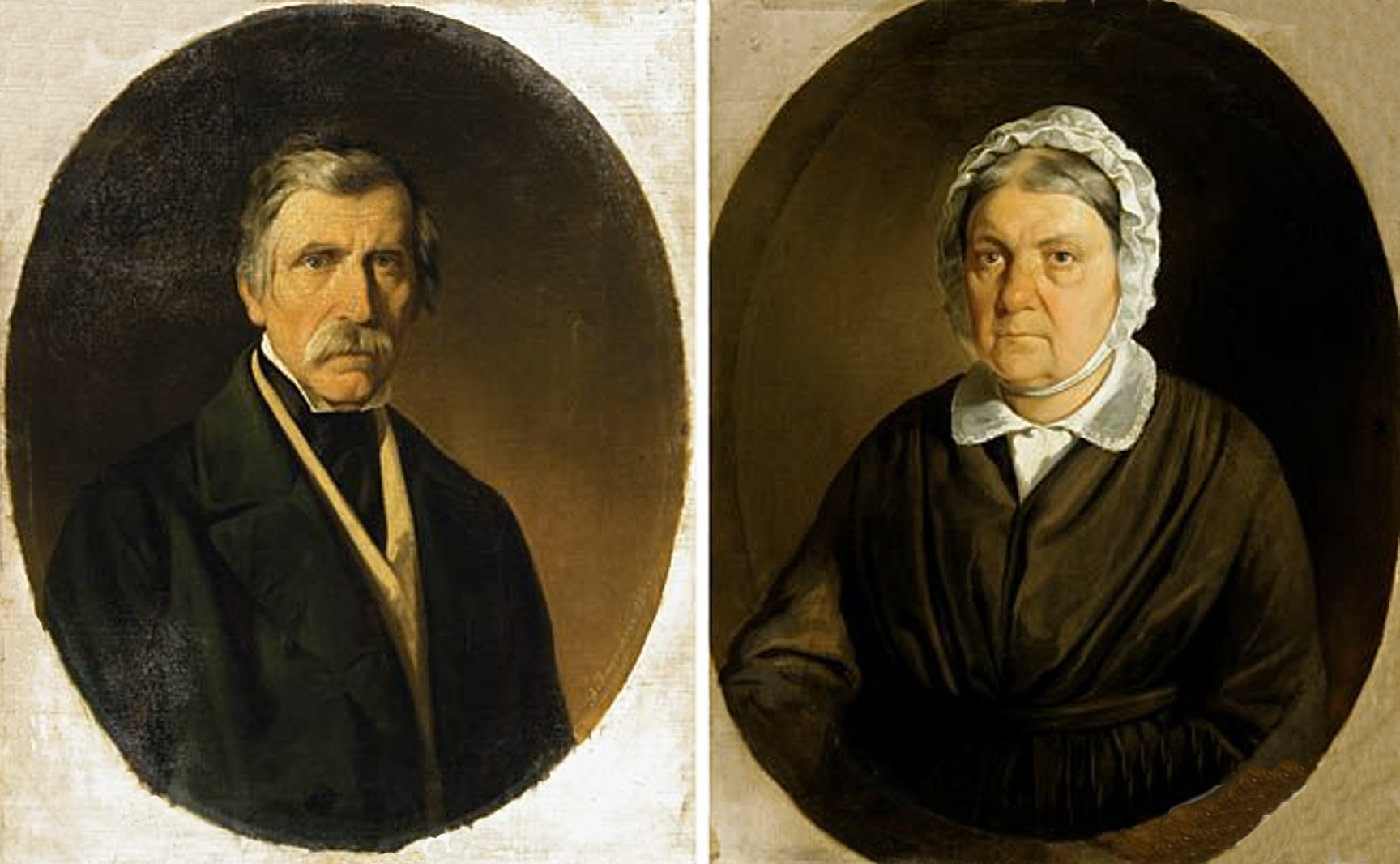 Александер Рачинський. Портрет подружжя, 1852; олія, полотно