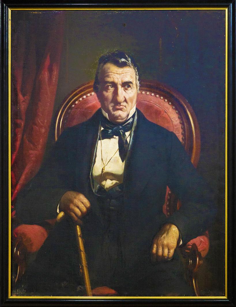 Александер Рачинський. Портрет графа Станіслава Скарбека, 1875; олія, полотно; ЛІМ