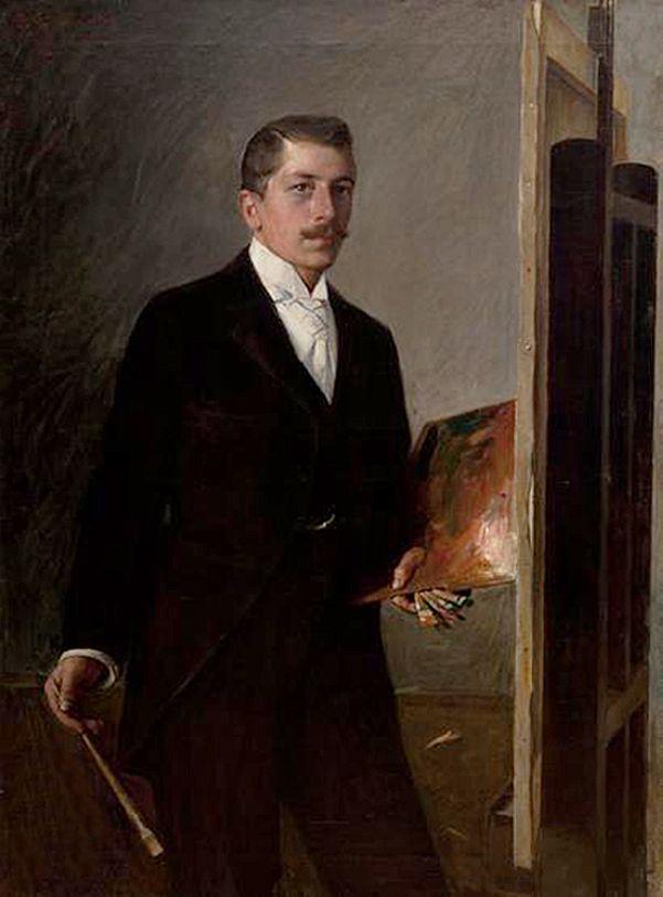 Станіслав Яновський. Автопортрет з палитрою, 1896; полотно, олія; NMK