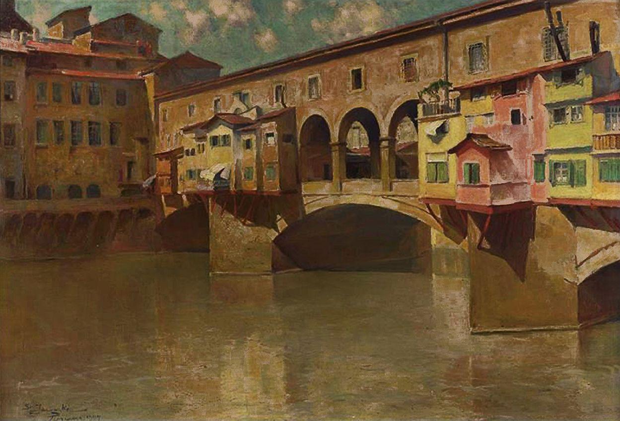 Станіслав Яновський. Міст на Арно, 1904; полотно, олія; NMW