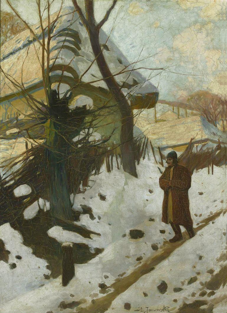 Станіслав Яновський. Село взимку, 1900-ті; полотно, олія; NMW
