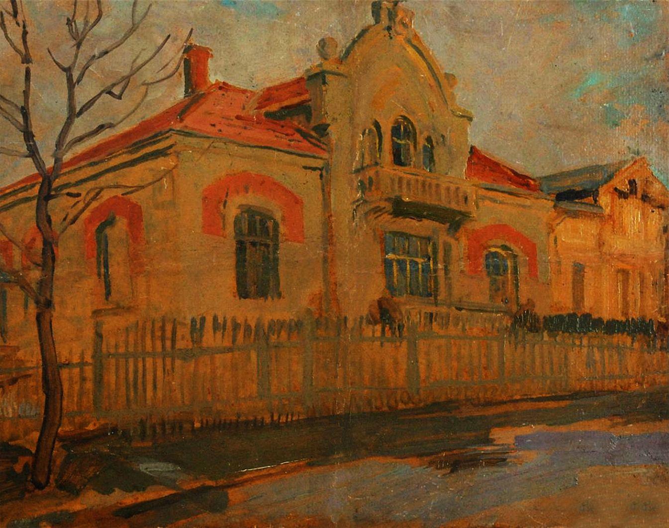 Станіслав Яновський. Львів, вілла Левицького, 1920; картон, олія