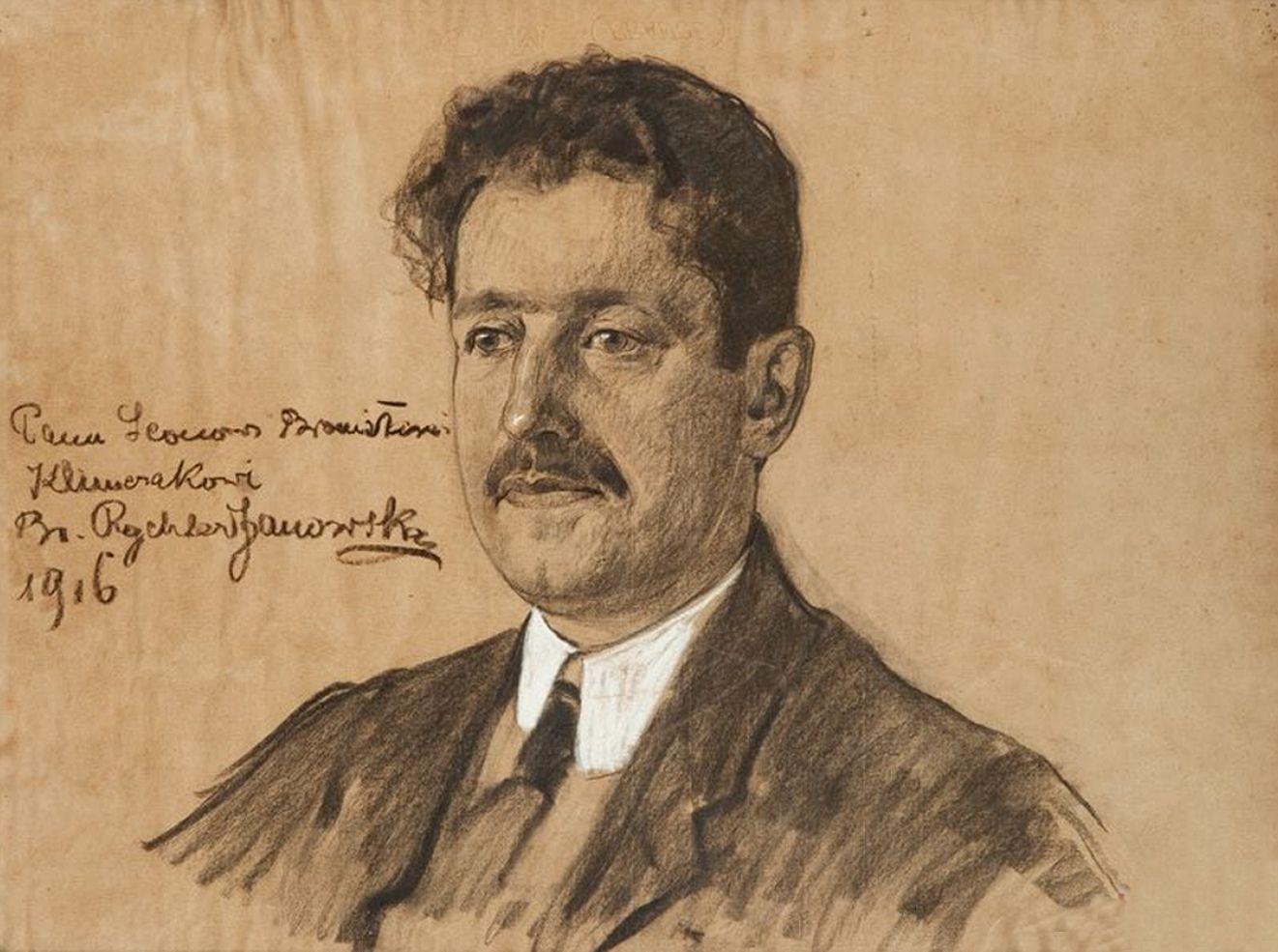Броніслава Яновська. Леон Клімчак, 1916; папір, олівець