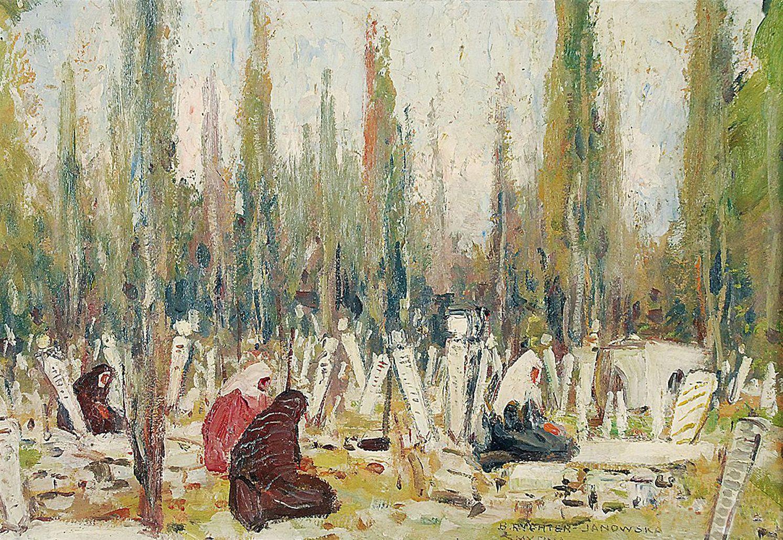 Броніслава Яновська. Мусульманське кладовище в Смірні, 1931; картон, олія