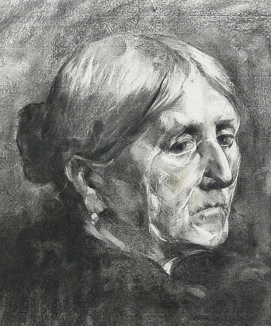 Броніслава Яновська. Портрет жінки, 1899; папір, туш