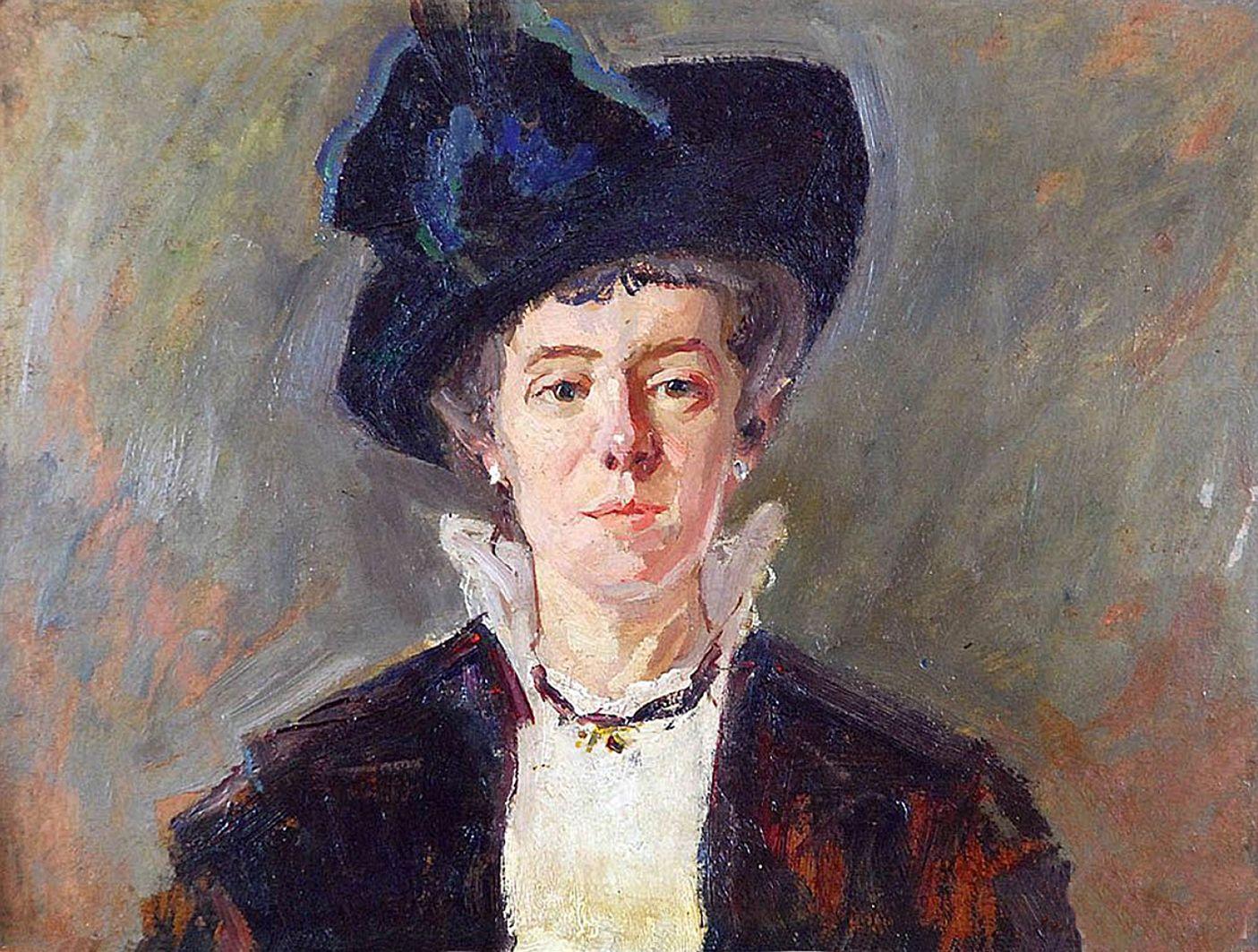 Броніслава Яновська. Жіночий портрет, 1914; картон, олія