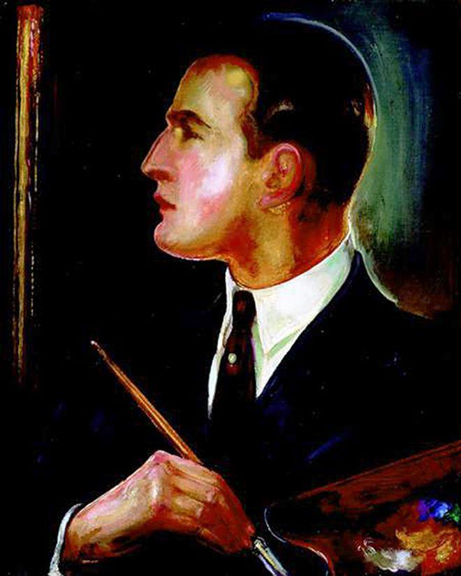 Густав Гвоздецький. Автопортрет, 1928; олія, полотно; NMW
