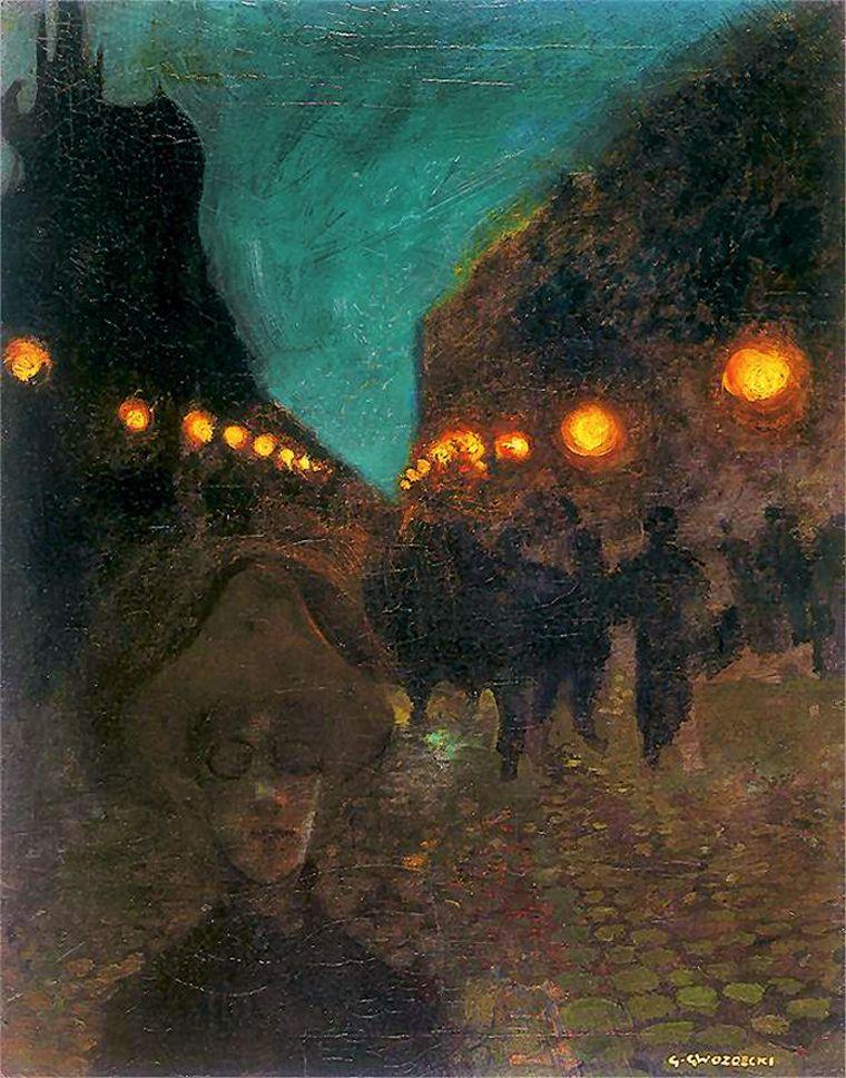 Густав Гвоздецький. Вечірня меланхолія, 1906; олія, полотно