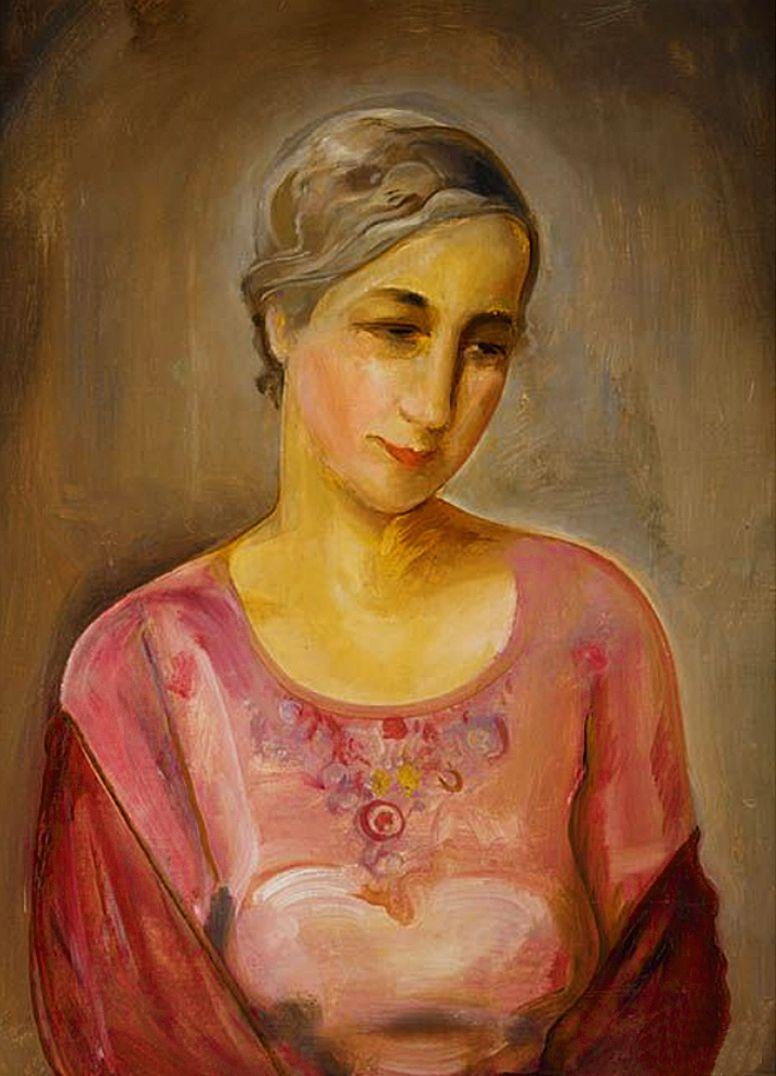 Густав Гвоздецький. Жіночий портрет, 1934; олія, полотно