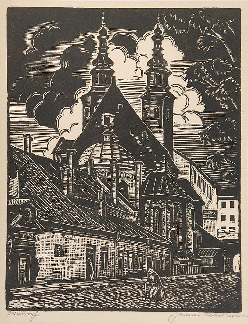 Яніна Новотнова. Краків. Костел св. Андрія, 1920; дереворит