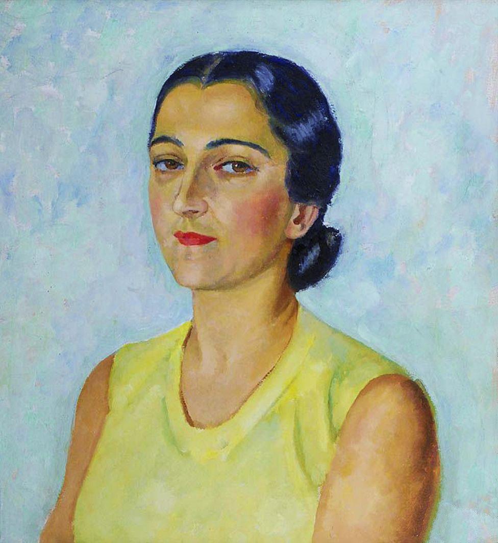 Яніна Новотнова. Марія Рапачинська, 1942; олія, картон