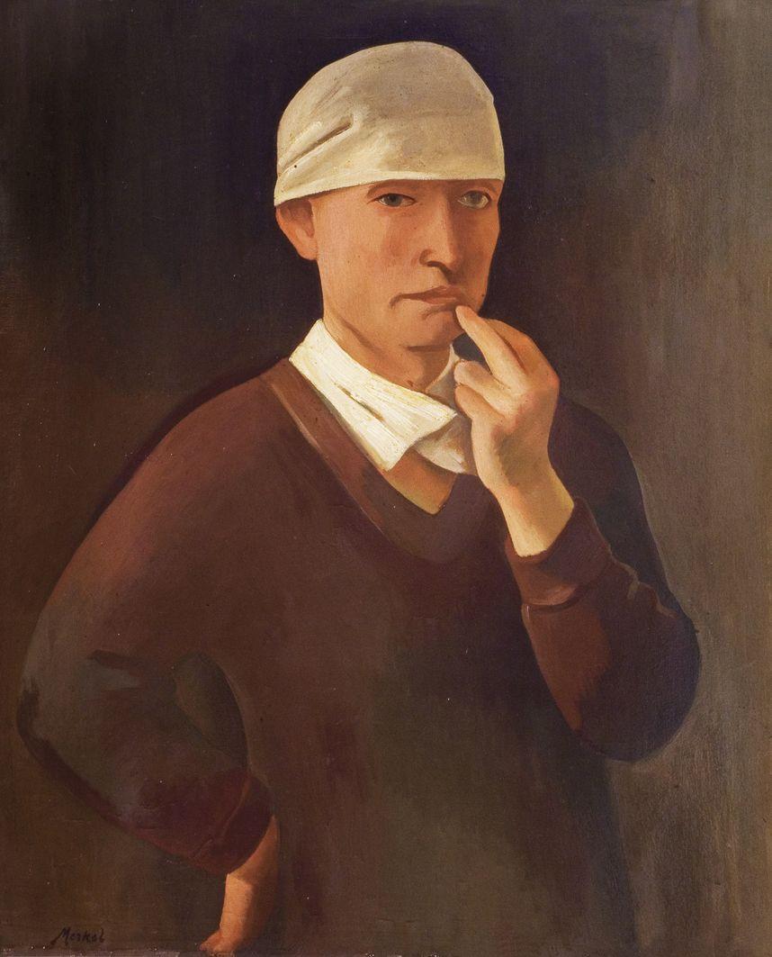 Єжи Меркель. Автопортрет, 1919; олія, полотно; ЛНГМ
