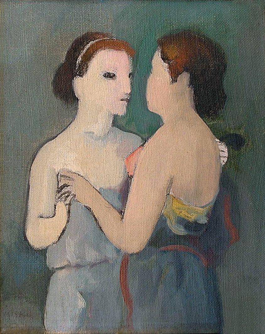 Єжи Меркель. Дві жінки, 1943; олія, полотно