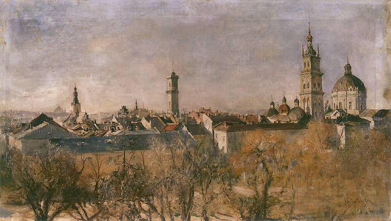 Станіслав Батовський-Качор. Вид Львова, 1898; полотно, олія; 50,5 x 95