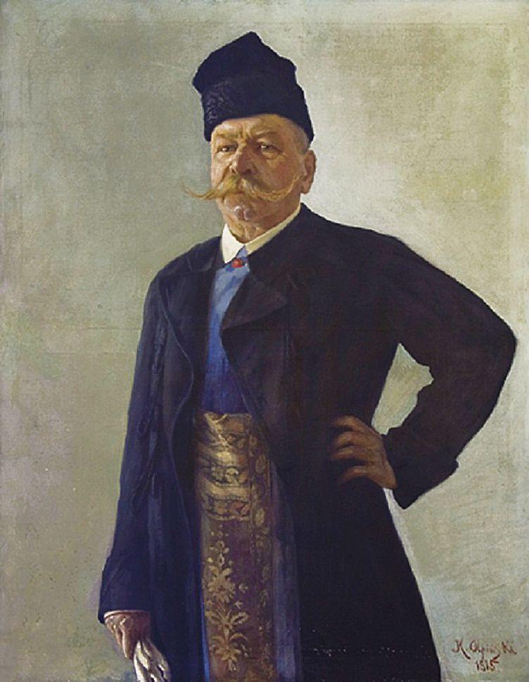 Ян Казімеж Ольпінський. В живецькому костюмі Józef Studencki; 1915; полотно, олія