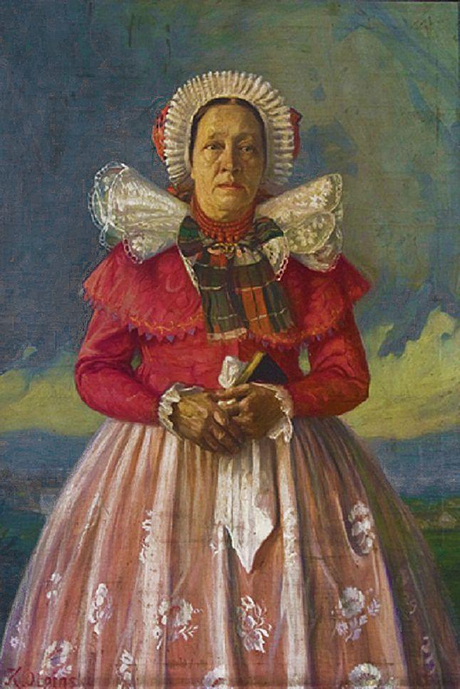 Ян Казімеж Ольпінський. В живецькому костюмі Maria Molińska; 1910-ті; полотно, олія