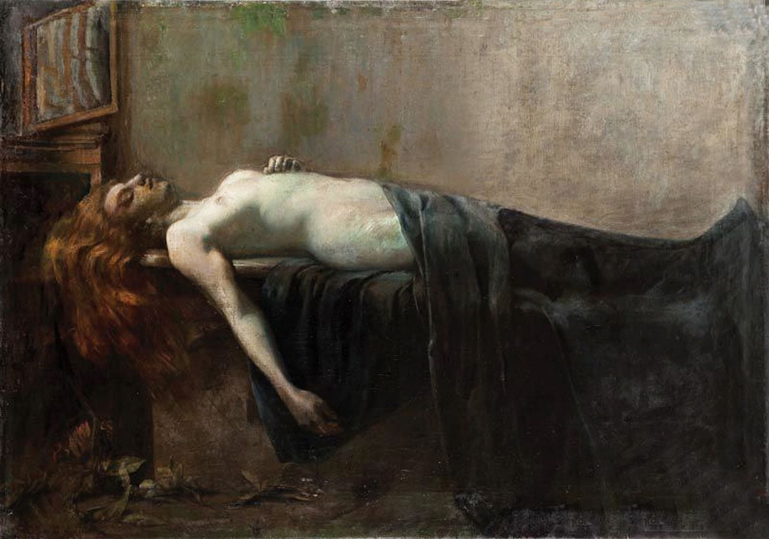 Ян Казімеж Ольпінський. Самотність (частина триптиха), 1901; полотно, олія
