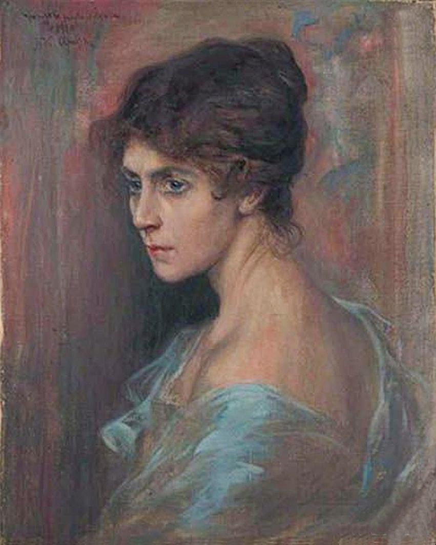 Ян Казімеж Ольпінський. Жіночий портрет, 1920; полотно, олія