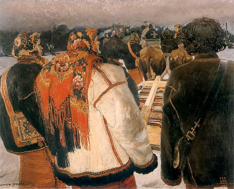Владислав Яроцький. Гуцульський похорон, 1908