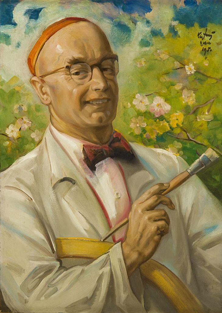 Юзеф Кідонь. Автопортрет, 1930; картон, олія