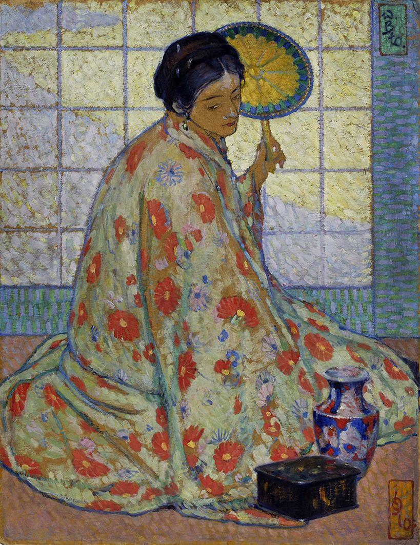 Володимир Блоцький. Японка, 1910; олія, полотно