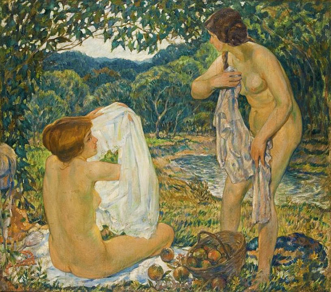 Володимир Блоцький. Купальщиці, 1914; олія, полотно; MSL