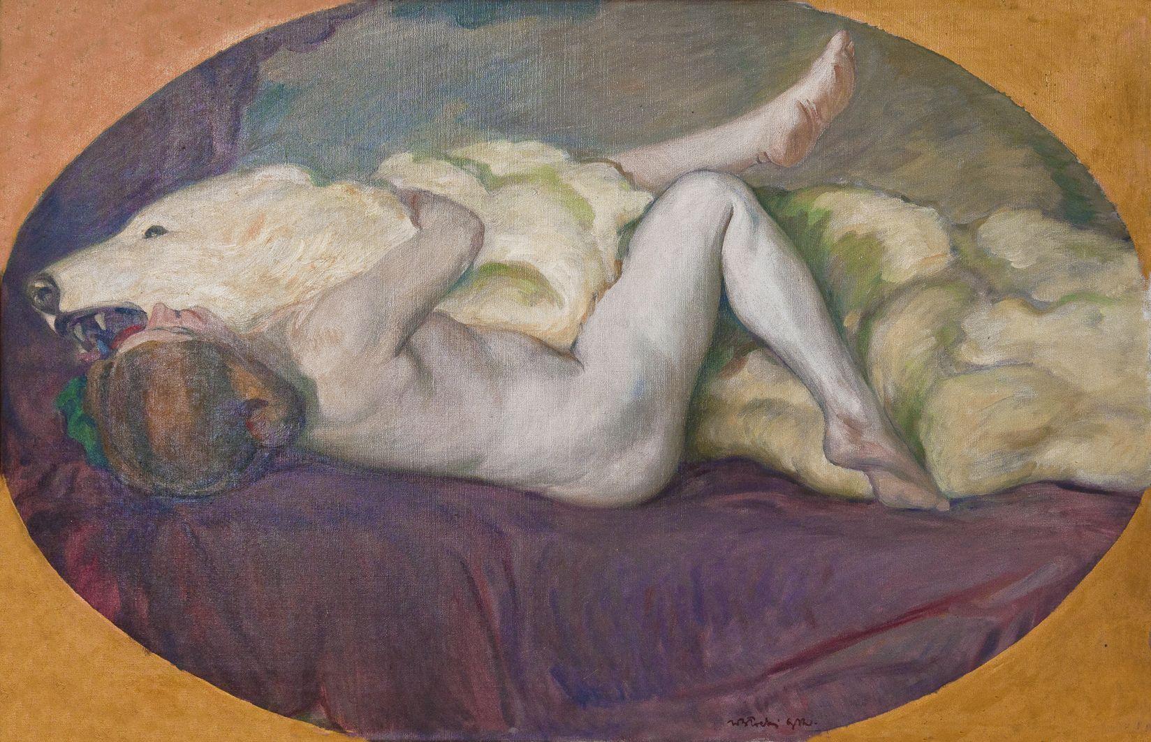 Володимир Блоцький. Пестощі, 1912; ЛНГМ