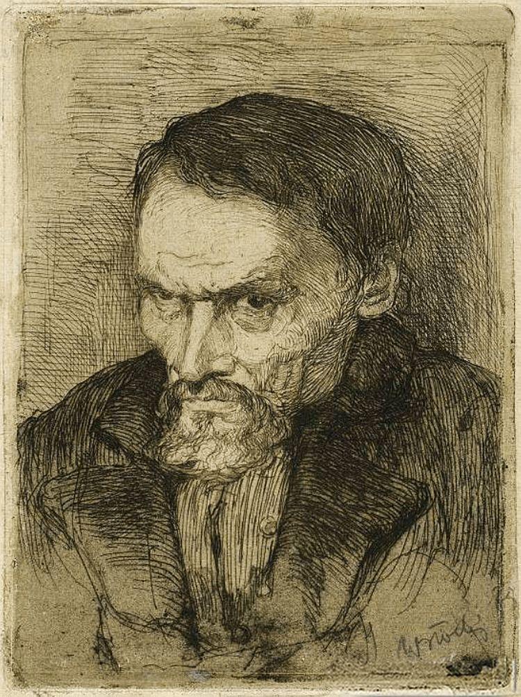 Володимир Блоцький. Портрет чоловіка, 1914; офорт