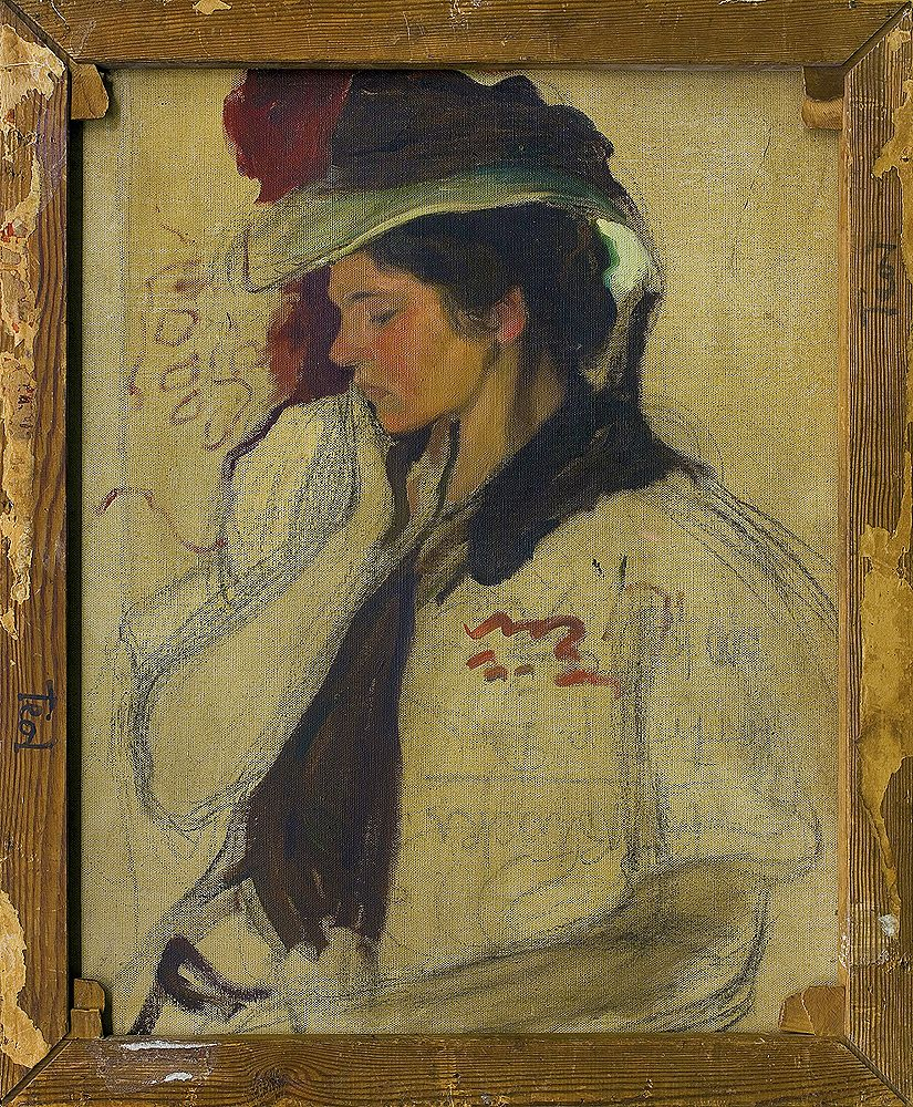 Володимир Блоцький. Портрет дами, 1910; олія, полотно