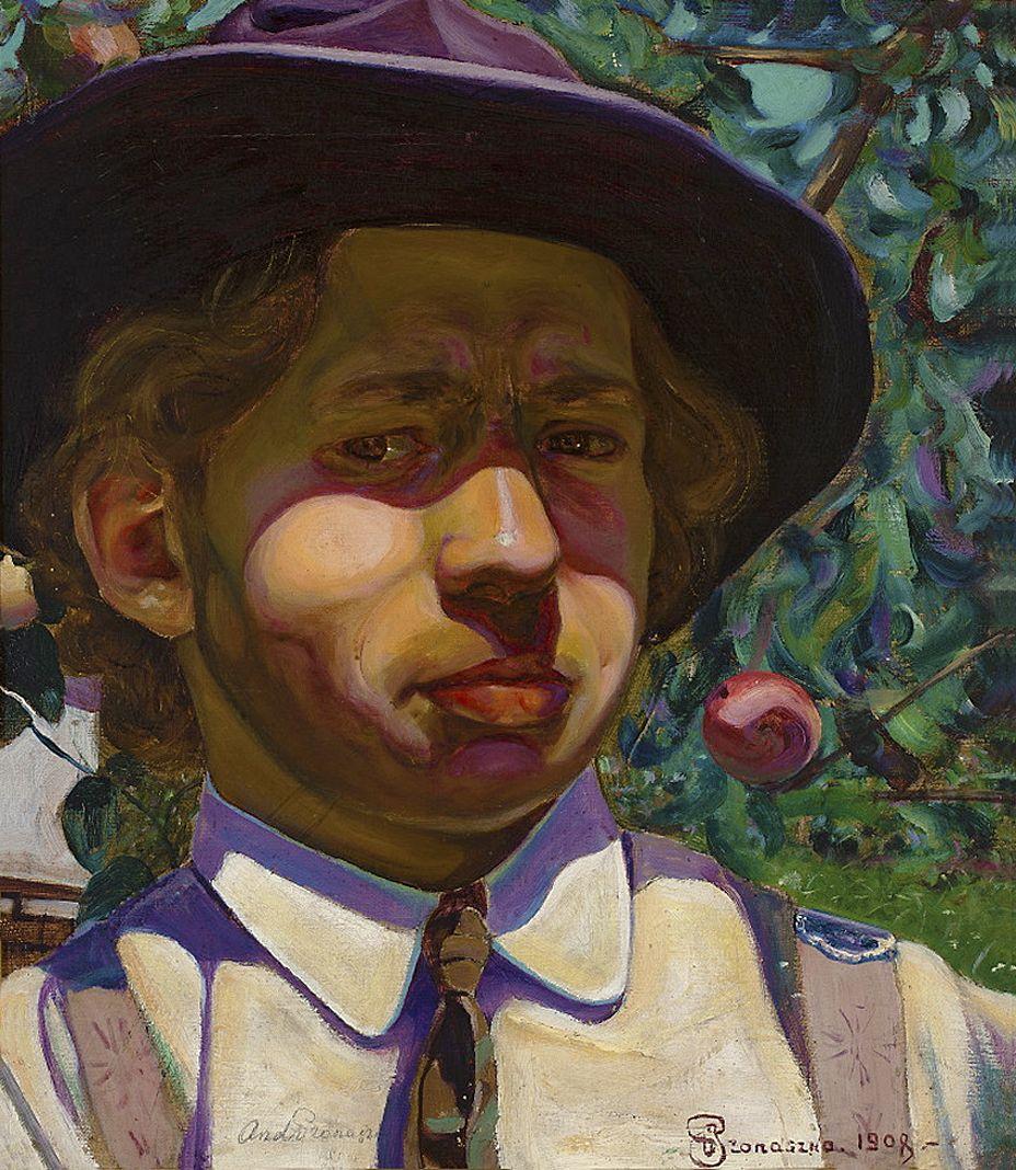 Анджей Пронашко. Автопортрет в саду, 1908; олія, полотно; NMW