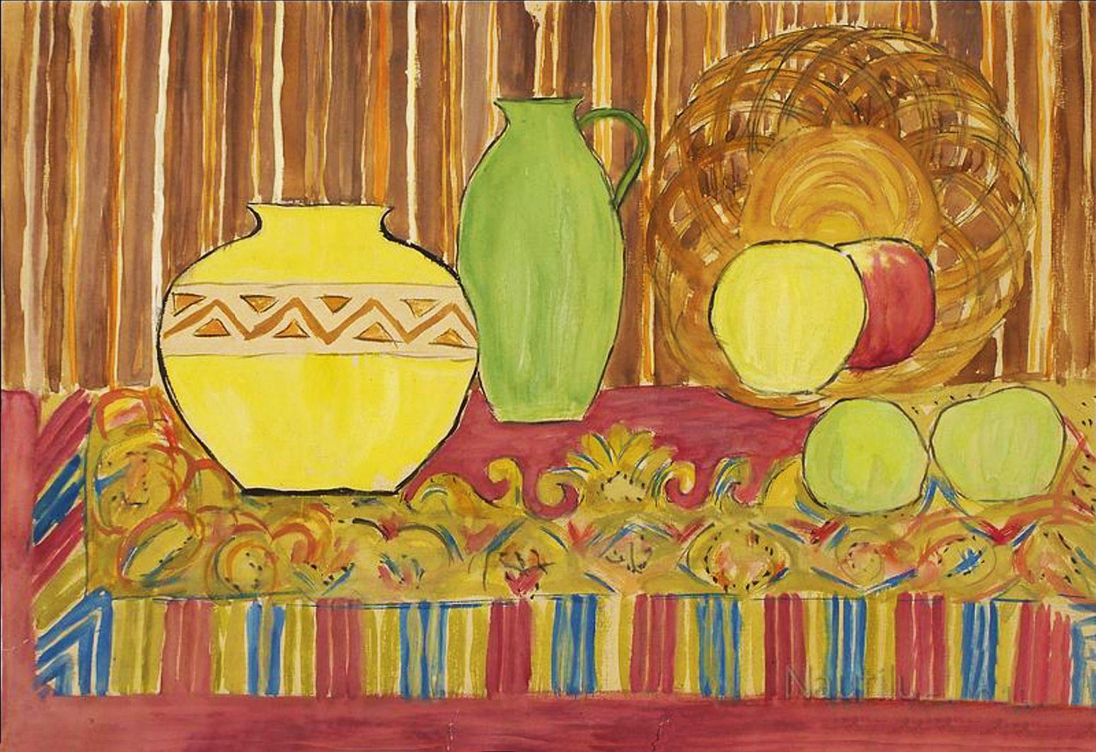 Анджей Пронашко. Натюрморт з фруктами, 1940-і; папір, акварель