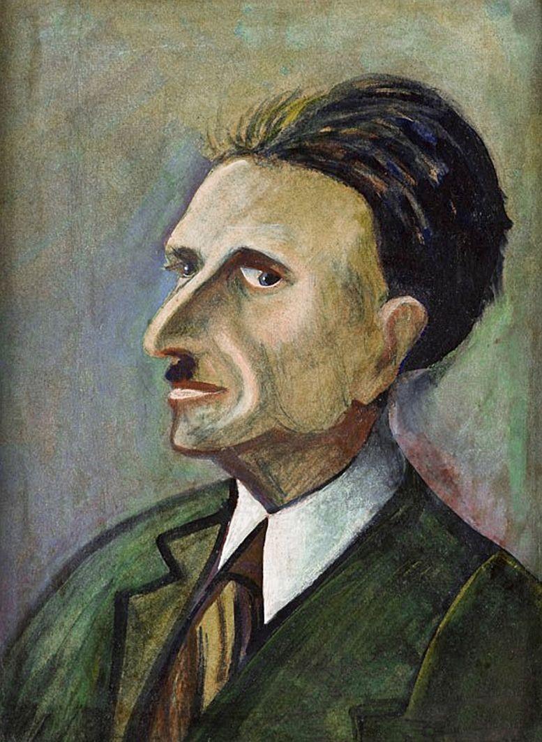 Анджей Пронашко. Портрет Дж. Тувіма, 1956; картон, олія