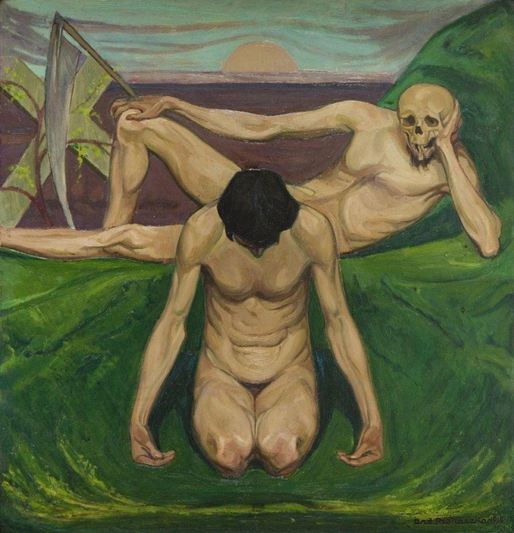 Анджей Пронашко. Тріумф смерті, 1912; фанера, олія