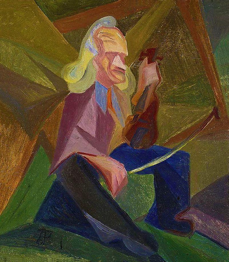 Збігнєв Пронашко. Портрет Syrewicz, 1918; картон, олія; NMW