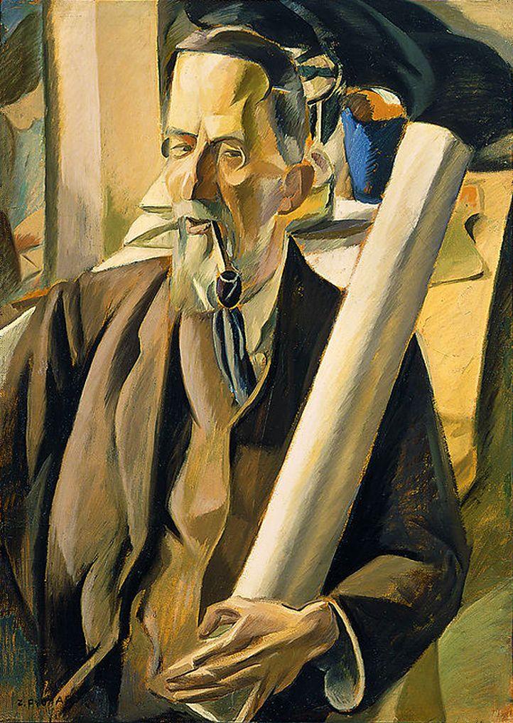 Збігнєв Пронашко. Архітектор Васильковський, 1919; картон, олія; NMW