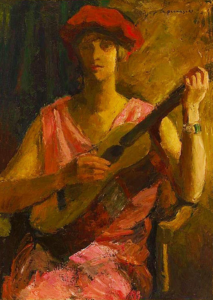 Збігнєв Пронашко. Гітаристка, 1927; полотно, олія; NMW