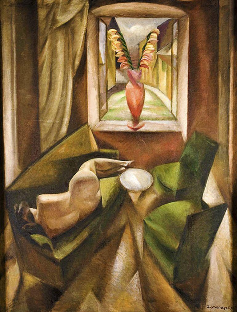 Збігнєв Пронашко. Інтер'єр з ню, 1920; полотно, олія; NMK