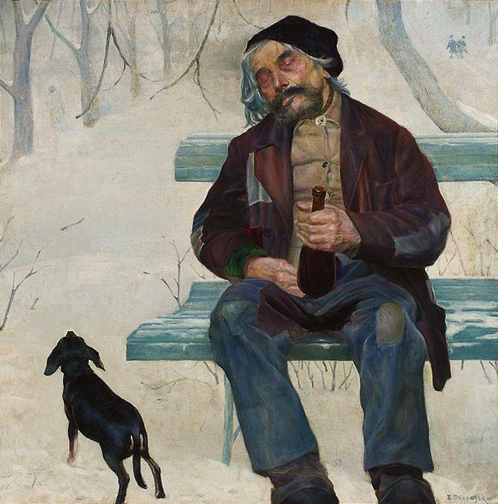 Збігнєв Пронашко. П'яниця, 1909; полотно, олія; NMW