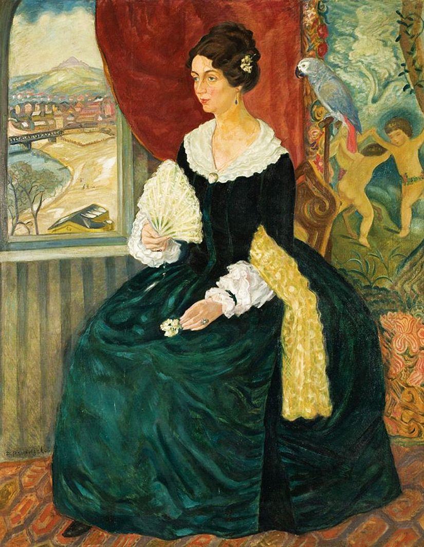 Збігнєв Пронашко. Портрет дружини, 1930-ті; полотно, олія