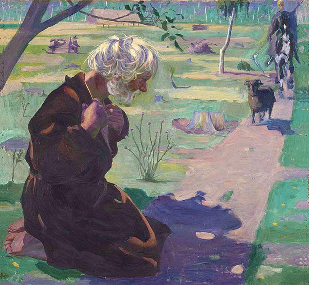 Збігнєв Пронашко. Повість про смерть, 1909; полотно, олія; NMW