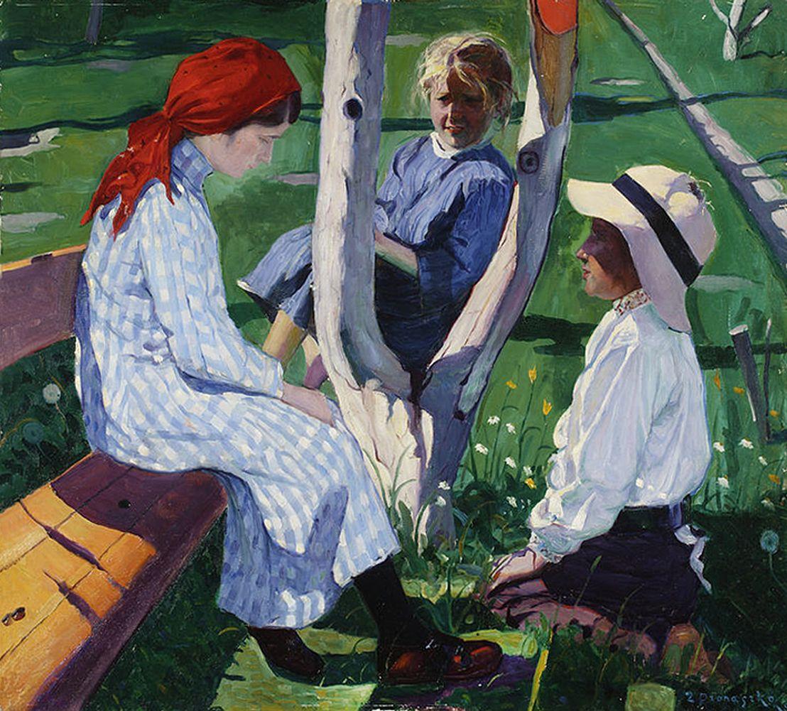 Збігнєв Пронашко. В саду, 1910; полотно, олія; NMW