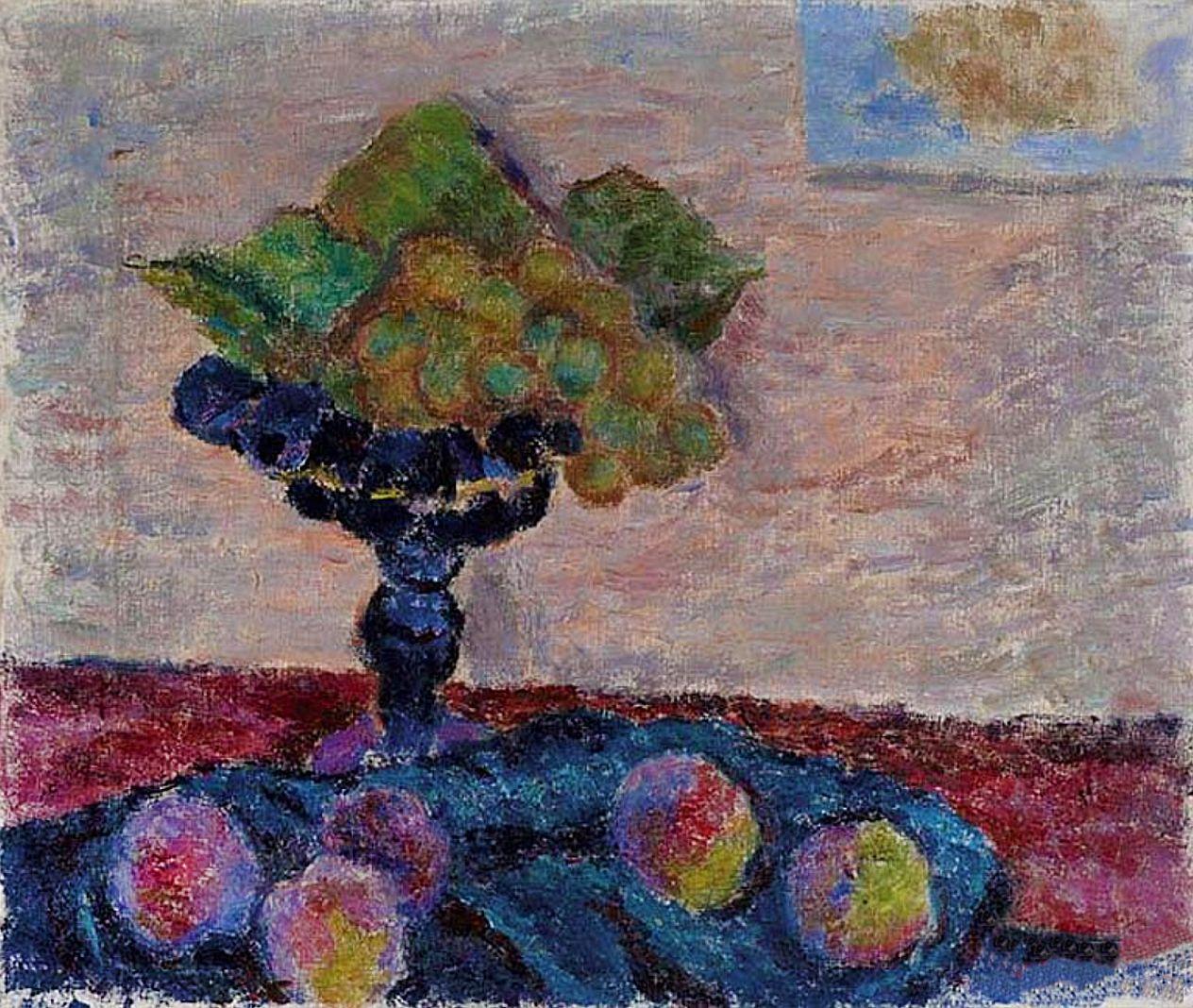 Леон Должицький. Натюрморт з фруктами, 1950-ті; олія, холст