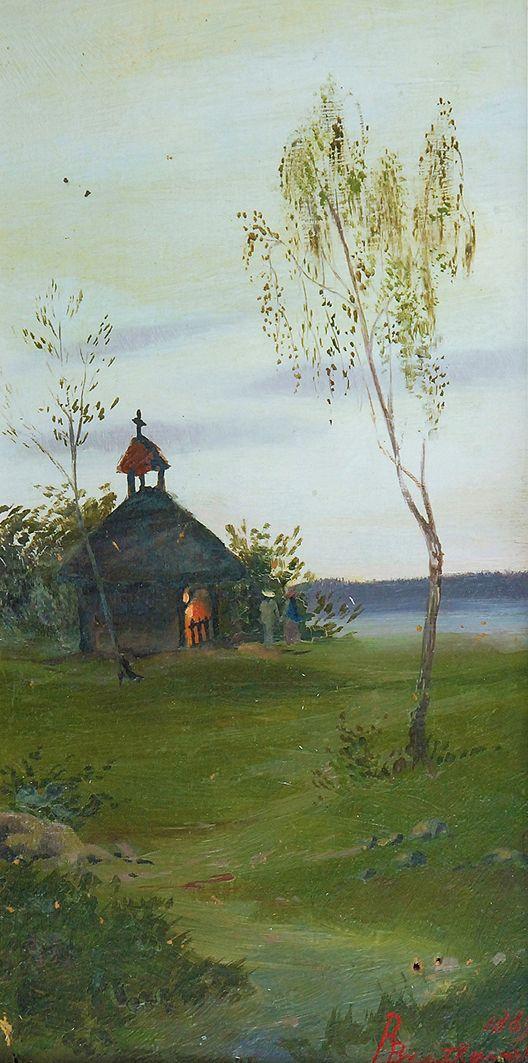 Роман Братковський. Каплиця, 1889; олія, полотно
