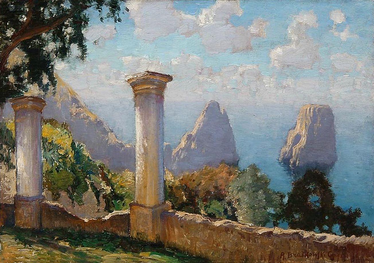 Роман Братковський. Літний день Капрі, 1925; олія, полотно
