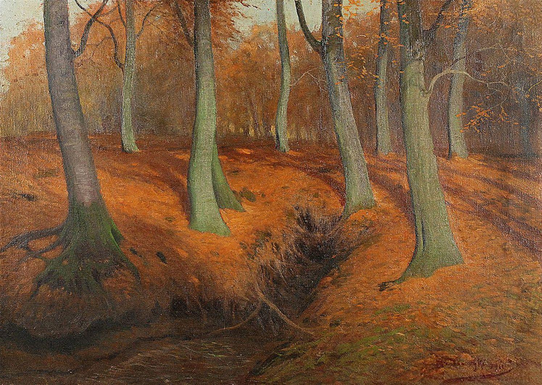 Роман Братковський. Осінній ліс, 1922; олія, полотно