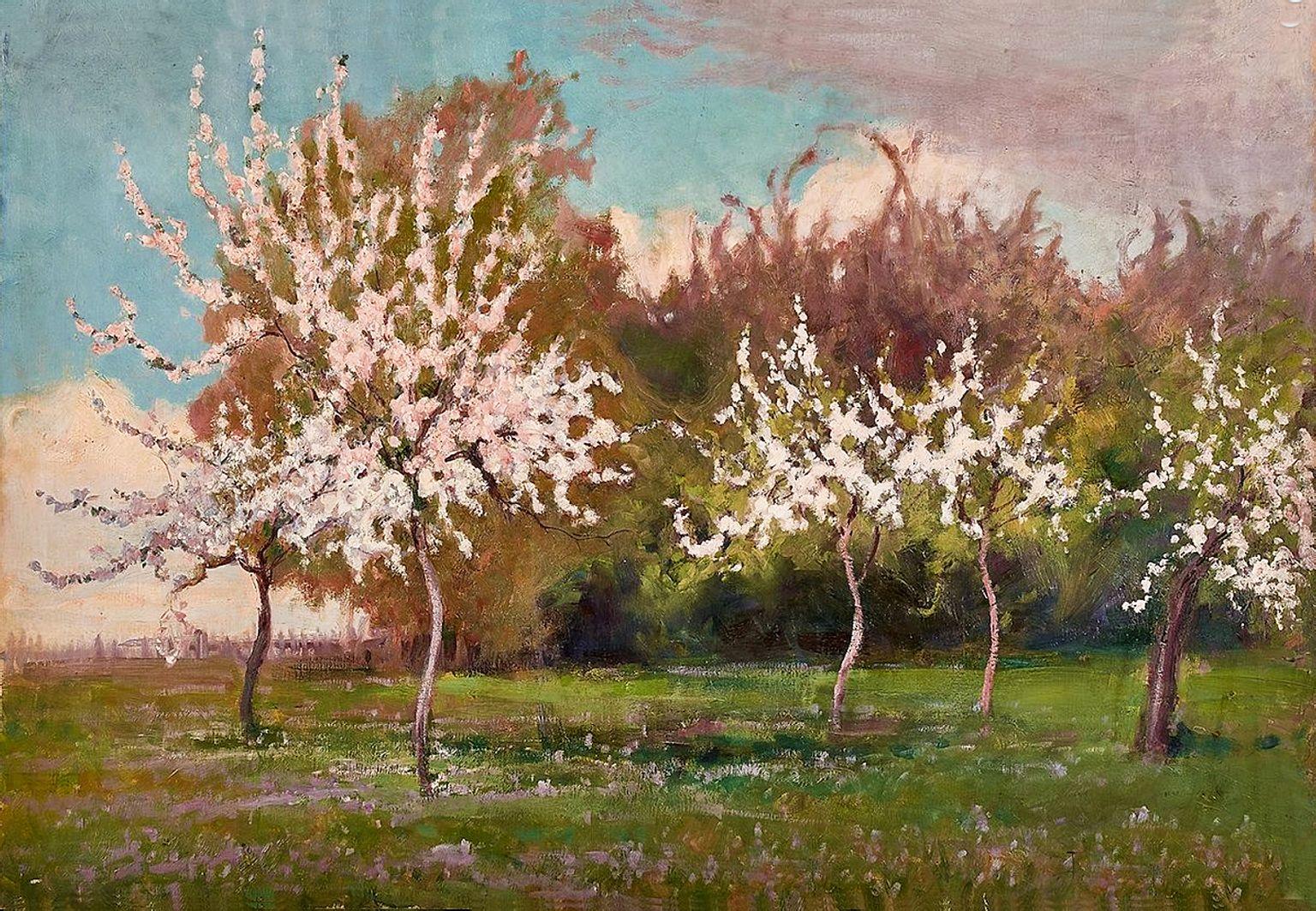Роман Братковський. Сад в цвіту, 1913; олія, полотно