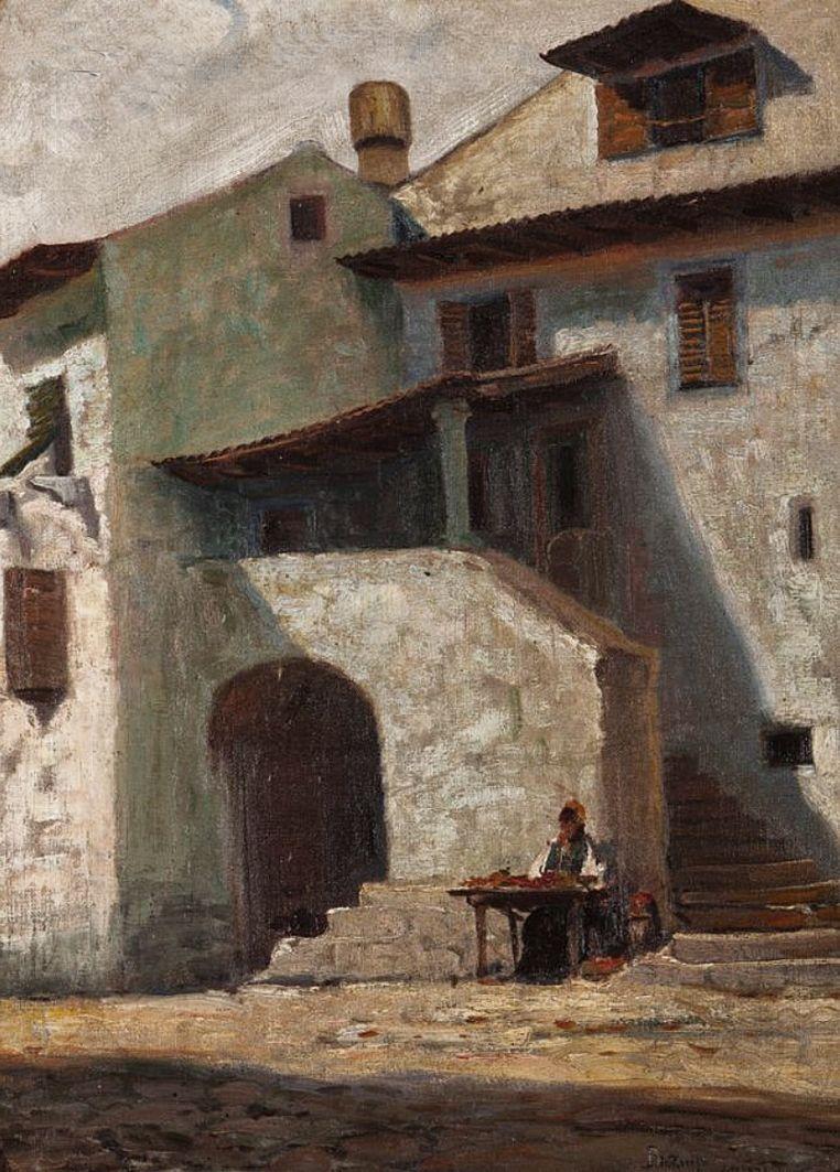 Роман Братковський. Закуток, 1908; олія, полотно