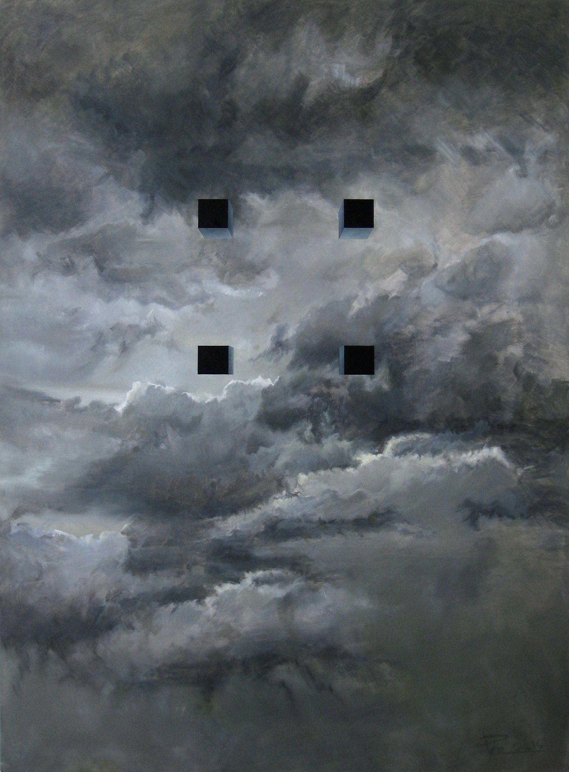 Ростислав Гарбар. Four points of black, 2016; олія, полотно; 115x85
