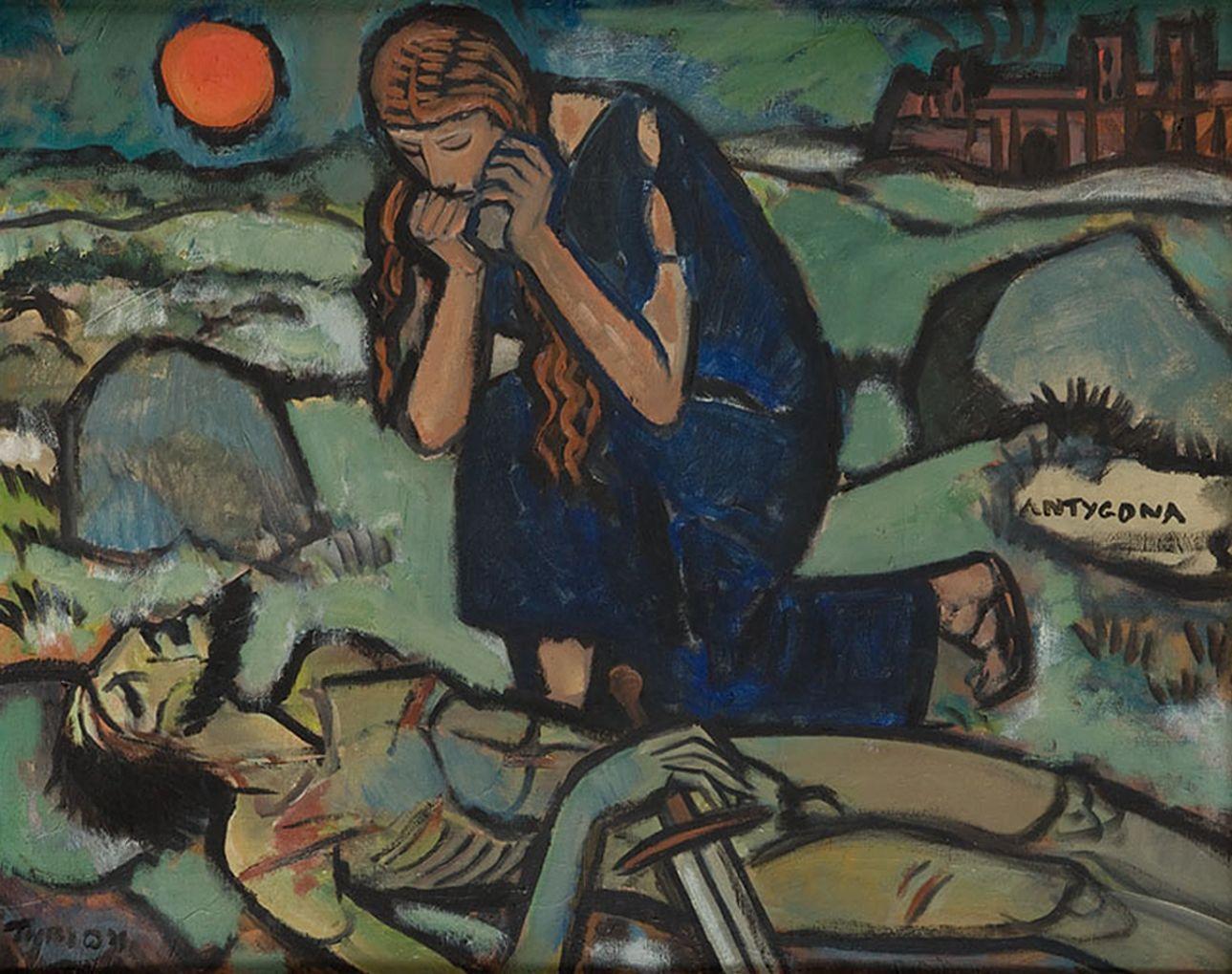 Тимон Нешеловський. Антигона, 1963; олія, полотно